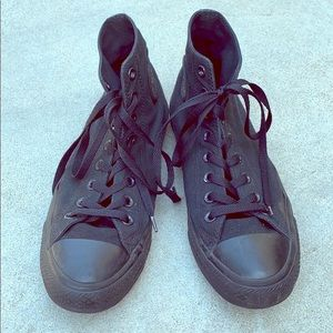 Converse Hightops Black size 9.5